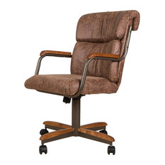 Swivel Dining Caster Chair Brown