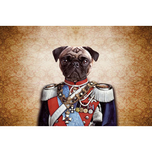 Pug In Uniform Gallery Door Mat, Small