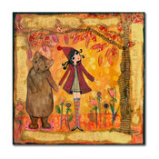 "Wyanne 'Big Eyed Girl He Helped Her Get Back Home' Canvas Art, 14""x14"""