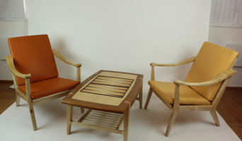 Maple and Cherry Backgammon table and 2 Easy Chairs