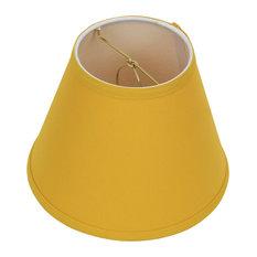 "Fenchel Shades 5""x9""x7"" Bulb Clip Attachment Empire Lamp Shade, Linen Curr"