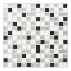Peel & Impress MIni Tile, 4-Pack, White Steel