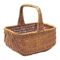 Traditional Wicker Shopping Basket, Large