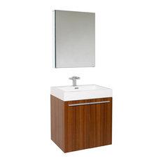 Fresca Alto Teak Vanity w/ Medicine Cabinet