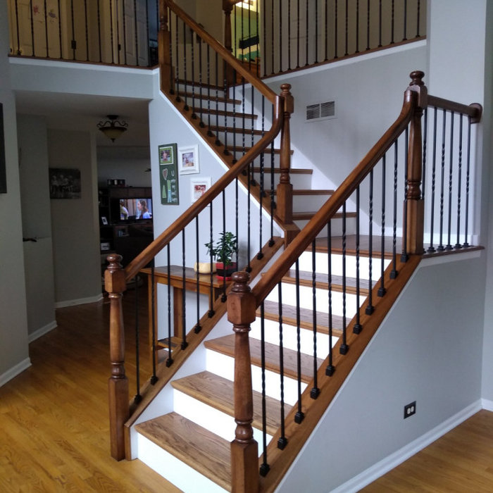 Staircase makeover with flooring