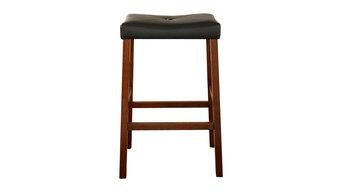 """Upholstered Saddle Seat Barstool Set of 2, Cherry, 29"""""""