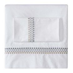 Jewels Organic Cotton Percale Deep Pocket Sheet Set, Platinum, King