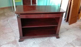 Renovación antiguo mueble tv en madera de raiz