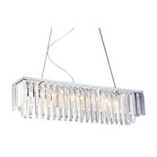 Modern Contemporary Linear Chandelier With Crystals