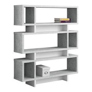 Modern-Style Bookcase, Gray