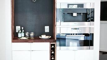 Walnut and White Modern Kitchen Remodel