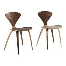 Modway   Vortex Dining Chairs Set Of 2, Dark Walnut   Dining Chairs