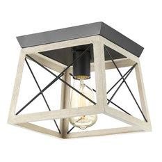 Progress Lighting - Briarwood 1 Light Flush Mount in Graphite - Flush-mount Ceiling Lighting