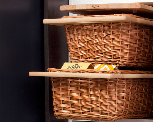 Pantry Pull-out Wicker Baskets