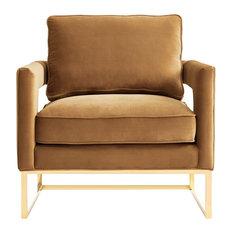 Avery Velvet Chair, Cognac