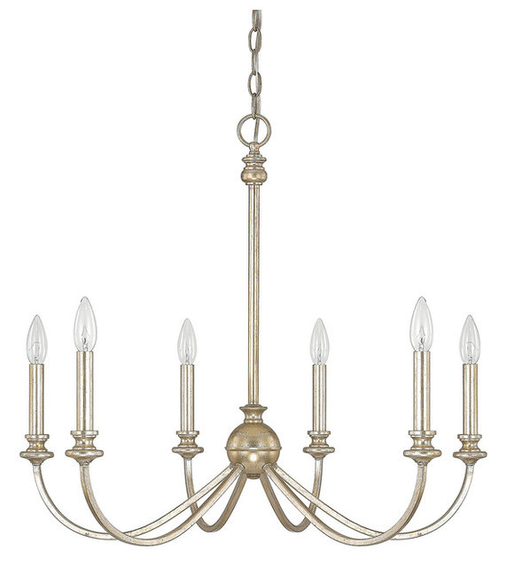 Capital lighting 4746wg 000 alexander 6 light chandelier winter gold