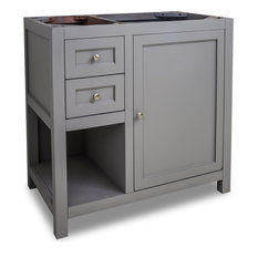 "Astoria Modern Jeffrey Alexander 36"" Vanity, Gray, No Top"