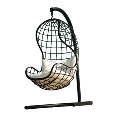 Oahu Outdoor Swing With Seat Cushion, Shimmer Electra, Navy