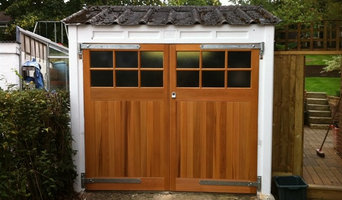 Cedar Timber Side-Hinged Garage Doors with 4mm Toughened Glass