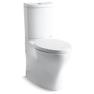 Kohler Persuade Curv 2-Piece Elongated Dual-Flush Toilet, White
