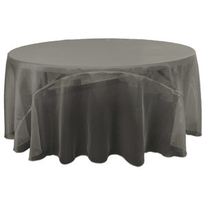 La Linen Square Satin Tablecloth Contemporary