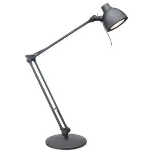 "9"" 6W 1 LED Desk Lamp Black"