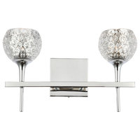 Woodbridge Lighting Bristol 2-Light Bath, Mercury Crystal Ball