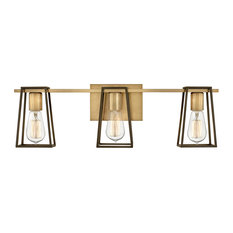 Hinkley Filmore 3-Light Vanity, Heritage Brass