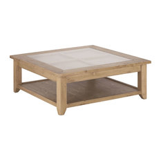 First Glass Top Coffee Table, Ash