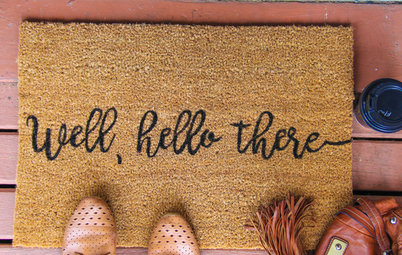 DIY Project: Impress Guests With a Personalised Doormat