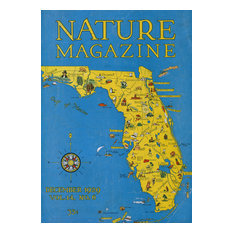 """""""Detailed Map of FL State with Scenic Spots to Visit"""" Print, 16""""x24"""""""