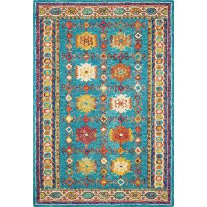 Vibrant 09 Rug, Teal, 152x229 cm
