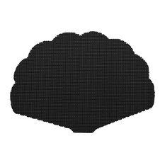 Kraftware Fishnet Black Shell Placemats, Set of 12