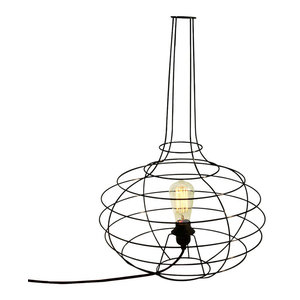 Globo Floor Lamp, Black Cable, Small