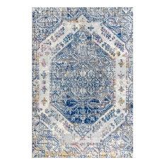 Modern Persian Boho Vintage Cream/Blue 8' x 10' Area Rug