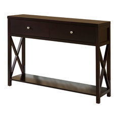 Pilaster Designs   Leith Wood Console Table, Cherry   Console Tables
