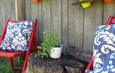 DIY: How to Make Backyard Hanging Shelves
