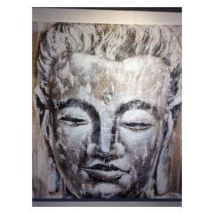 """Buddha"" Acrylic Painting, 100x100 cm"