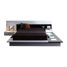 Modrest Impera Ultra Modern Glossy Platform King Bed w/NS