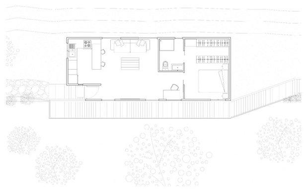 Moderno Plano de planta by BATLLÓ CONCEPT