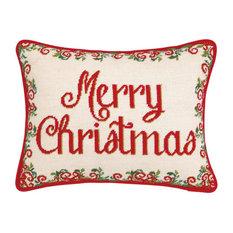 "Peking Handicraft, Inc. - 14""x18"" Christmas Medallion Needle Point - Holiday Decorations"