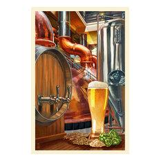 """The Art of Beer, Brewery Scene"" Print, 24""x36"""