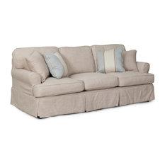 Horizon T-Cushion Slipcovered Sofa, Linen