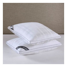 525 Thread Count Cotton Rich Down Alternative Bed Pillows Set of 2 in White