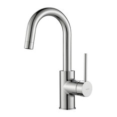 Kraus Oletto 1-Handle Kitchen Bar Faucet, Chrome