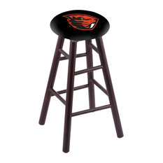 Maple Counter Stool Dark Cherry Finish With Oregon State Seat 24-inch