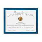 8.5x11 Blue Wood Certificate Picture Frame - Gallery Collection