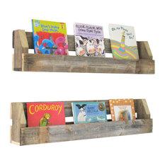Set of 2 Natural Reclaimed Shelves