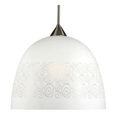 Large Snowdrop Glass Lampshade, Spirals