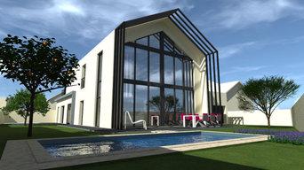 Construction d'une maison neuve individuelle moderne